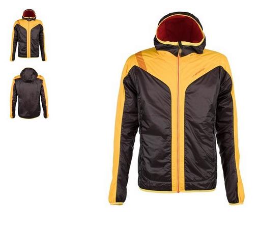 La Sportiva Primaloft Jacke schwarz gelb