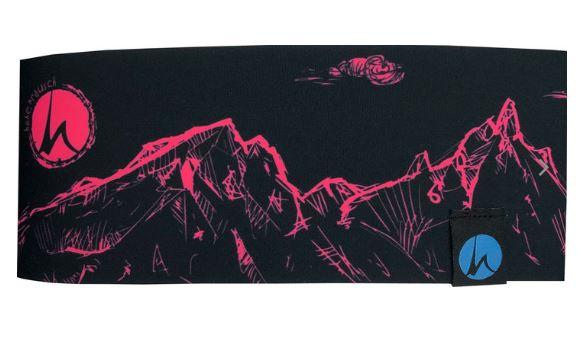 Höhenrausch Headband Stirnband Berge pink
