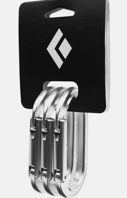 Black Diamond Oval Keylock 3 Pac