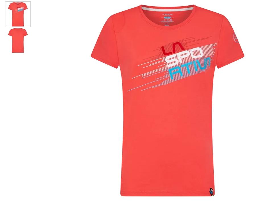La Sportiva Shirt Stripe hibiscus