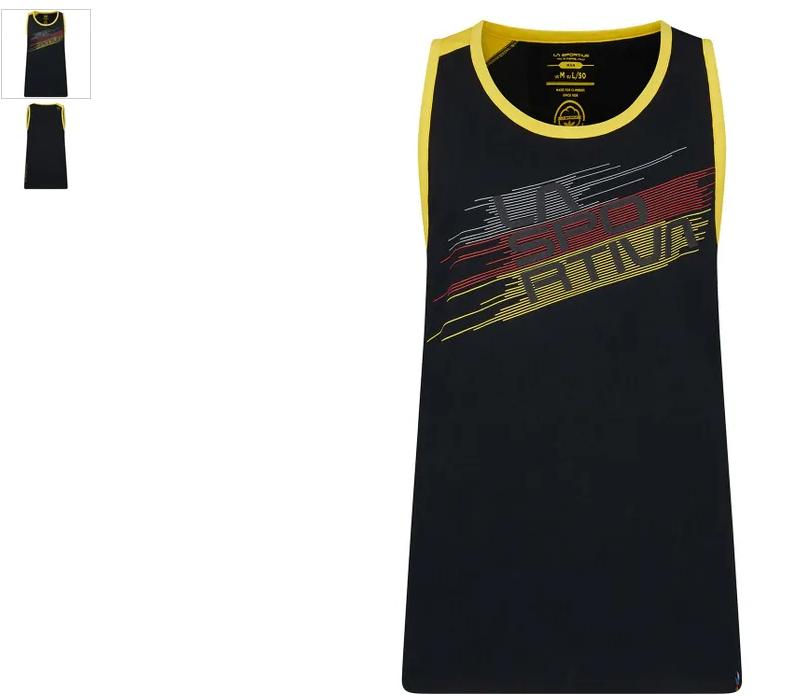 La Sportiva Tank Stripe schwarz