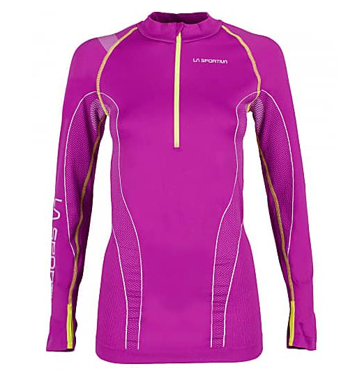 La Sportiva Funktionsshirt mit Zip purple