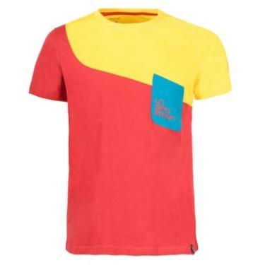 La Sportiva Shirt Climb rot/gelb