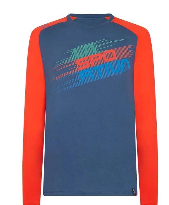 La Sportiva Longleeve blau rot