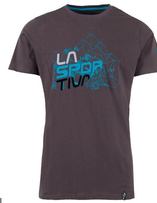 La Sportiva Shirt Cubic carbon/blau