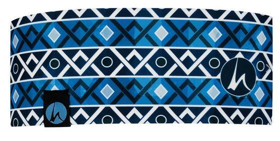 Höhenrausch Headband Stirnband blau gemustert