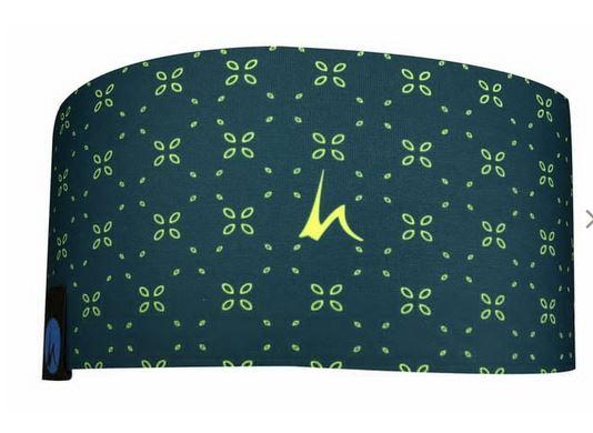 Höhenrausch Headband Stirnband Blume grün