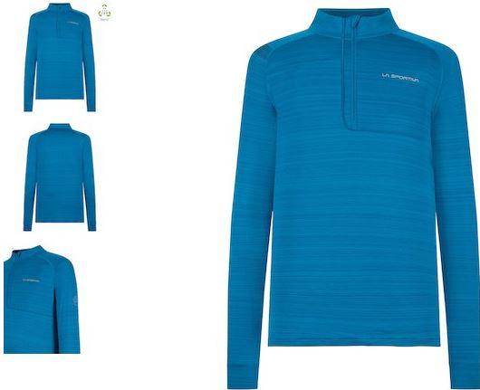 La Sportiva Funktionsshirt mit Zip blau