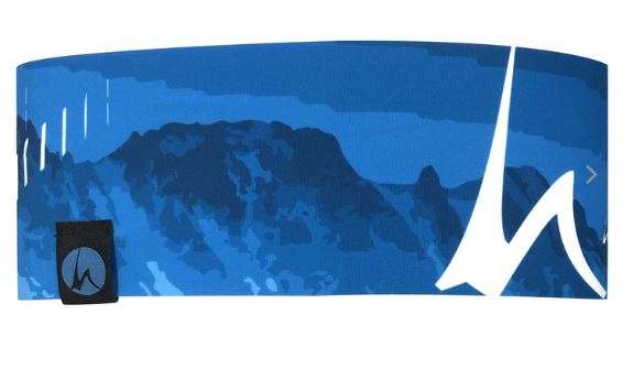 Höhenrausch Headband Stirnband blau weiß