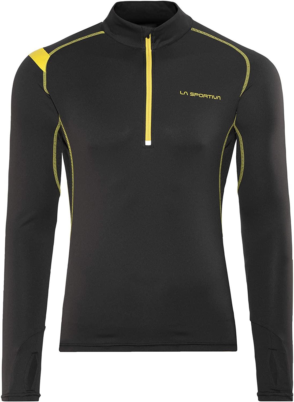 La Sportiva Funktionsshirt mit Zip schwarz