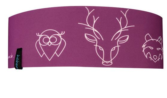 Höhenrausch Stirnband Headband Kinder - lila