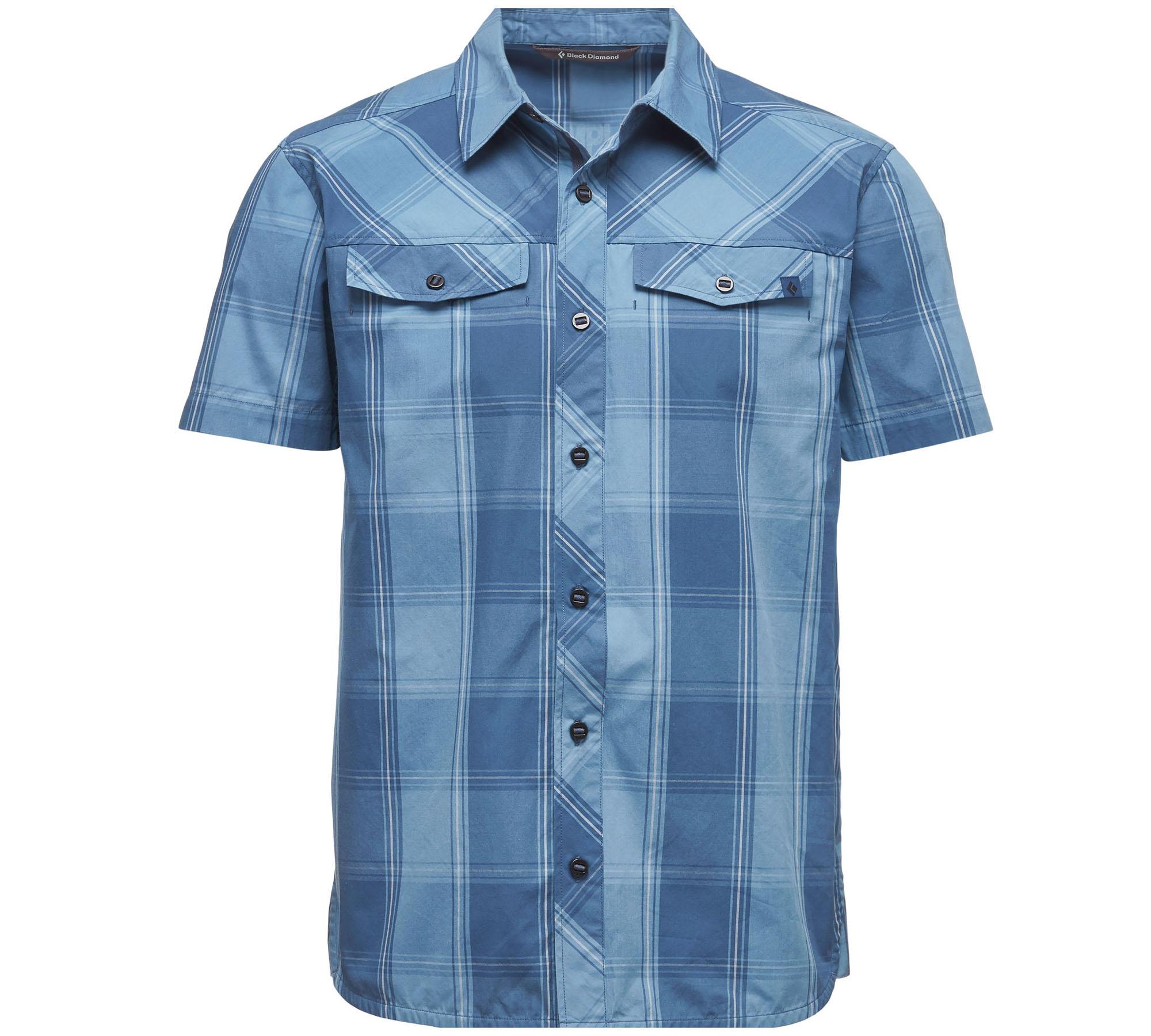 Black Diamond Hemd blau kurzarm