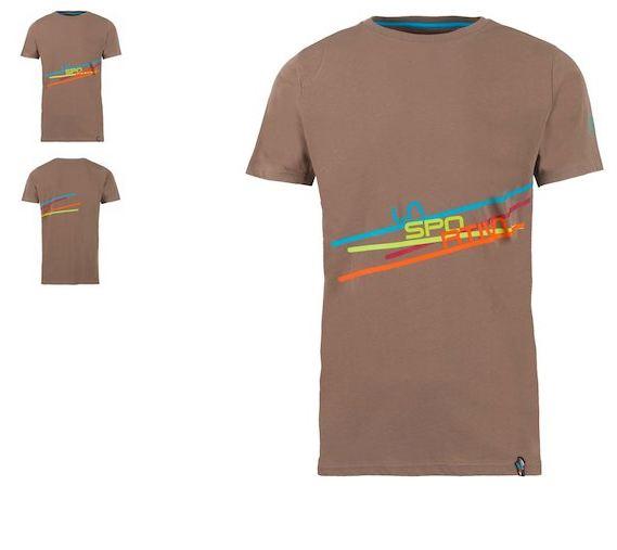 La Sportiva Shirt Stripe braun
