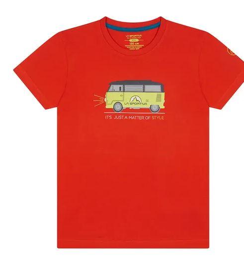 La Sportiva Kinder Van Shirt rot